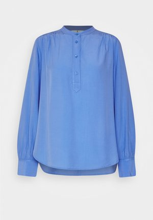 BLOUSE WITH STITCHING DETAILS - Pusero - sea blue