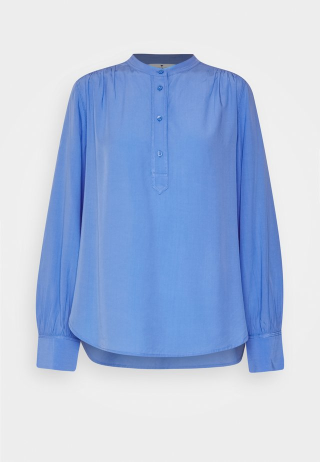 BLOUSE WITH STITCHING DETAILS - Bluzka - sea blue