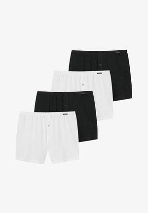 4ER PACK - Boxer shorts - weiß / schwarz