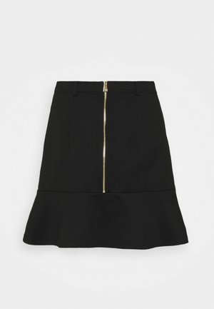 PONTE PEPLUM SKIRT - Mini skirt - black