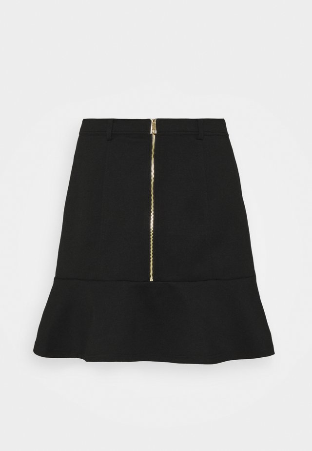 PONTE PEPLUM SKIRT - Mini skirts  - black