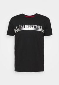 Alpha Industries - Printtipaita - black/metalsilver - 4