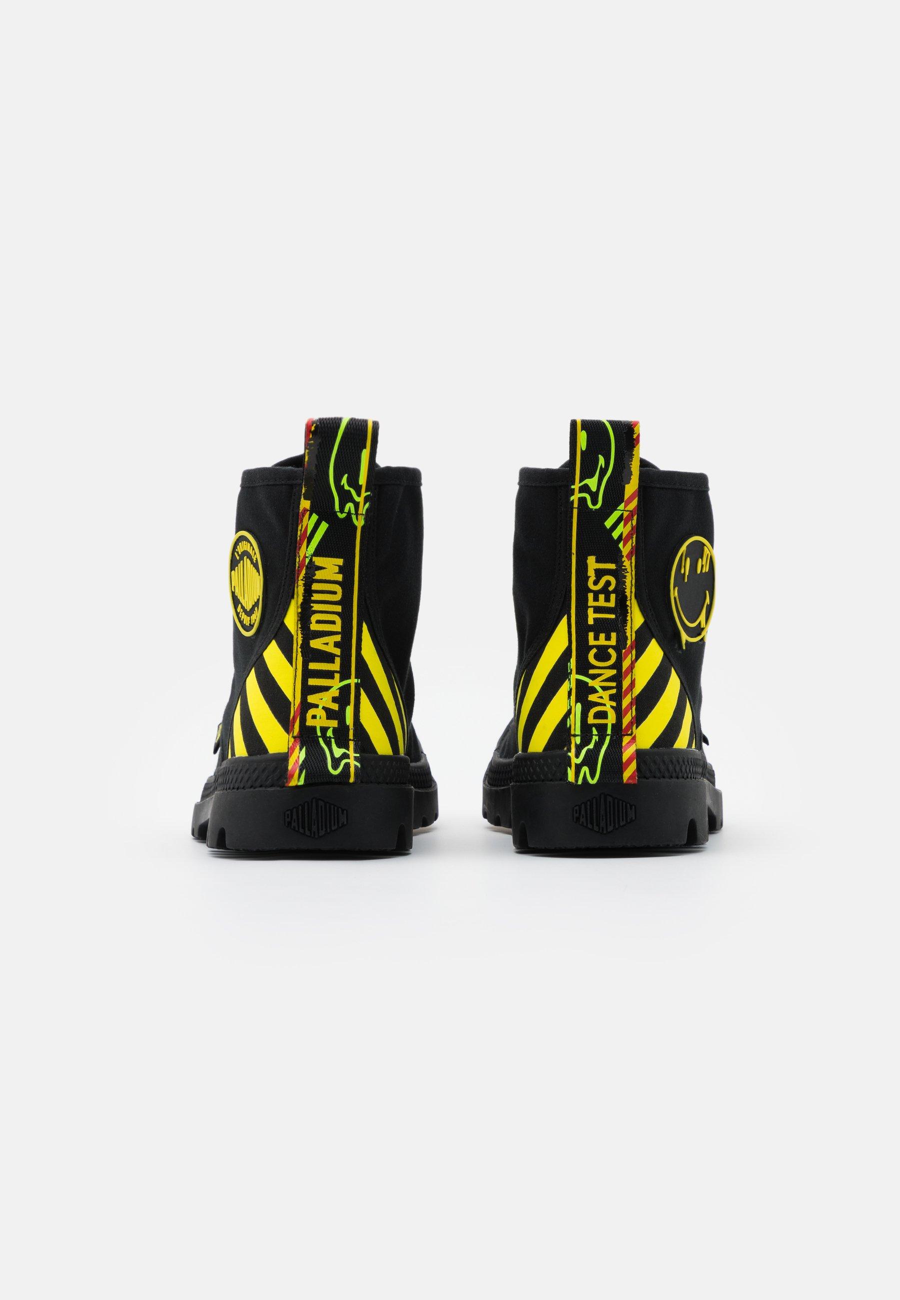 Besøg Palladium PAMPA  Snørestøvletter  black/yellow 8WTwE
