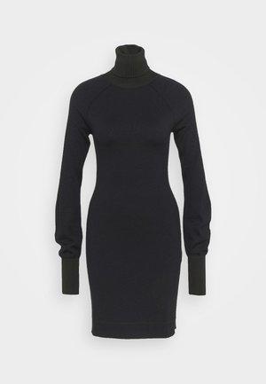 WOOLSHINE EVENING MINI JUMPER DRESS - Jumper dress - navy/black