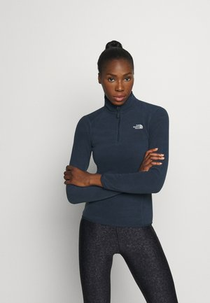 WOMENS GLACIER ZIP - Fleecepullover - urban navy