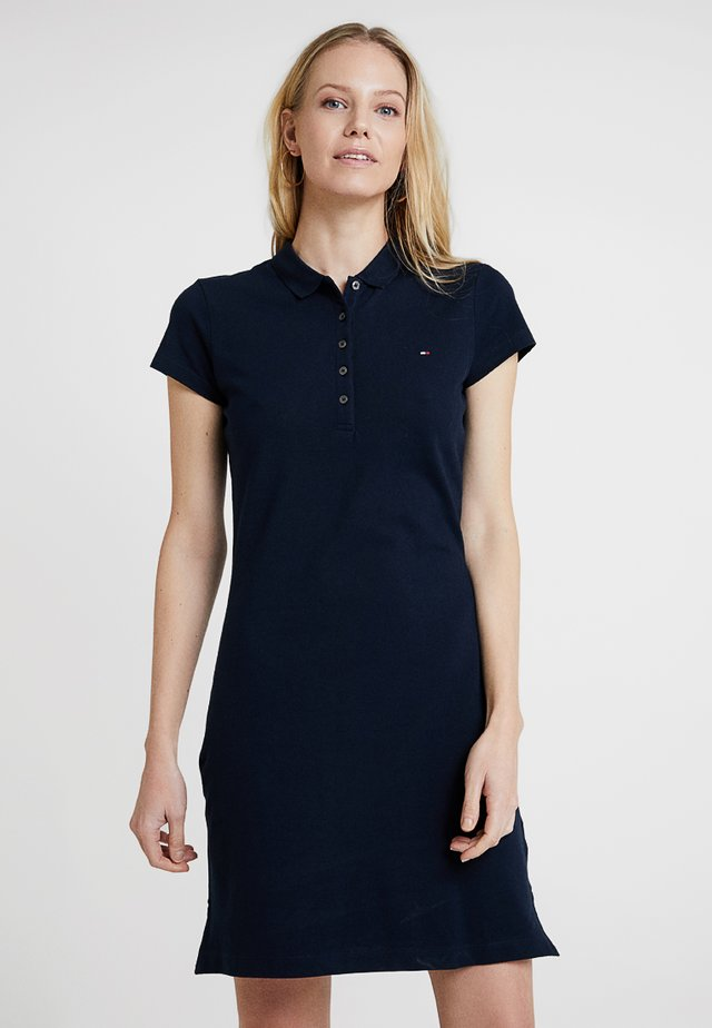 HERITAGE SLIM DRESS - Korte jurk - midnight