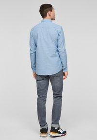 Q/S designed by - Shirt - light blue melange - 2