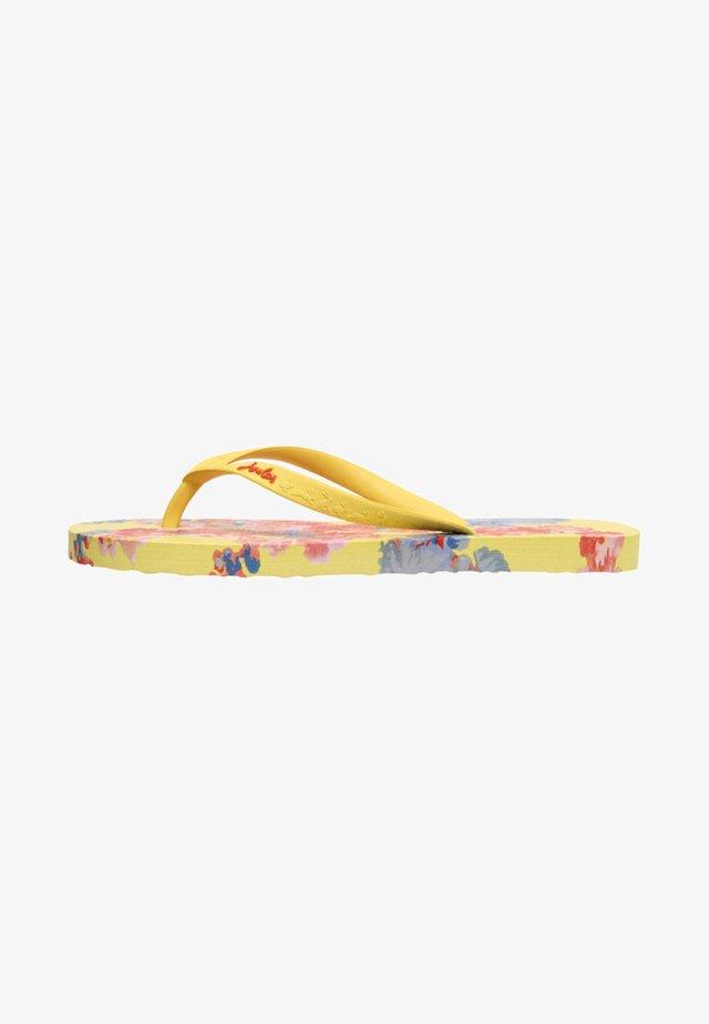 JUNIOR - T-bar sandals - gelb geblümt