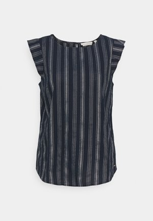 SLEEVE STRIPED - Blouse - navy/white