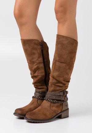 Cowboy/Biker boots - kastanie
