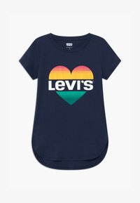 Levi's® - HIGH LOW TEE - Triko s potiskem - medieval blue - 0