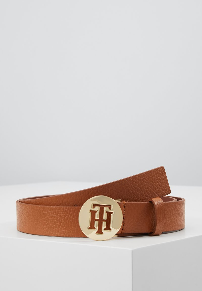 Tommy Hilfiger - ROUND BELT  - Pásek - brown