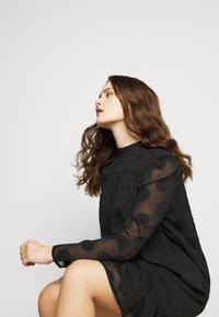 Missguided Plus - HIGH NECK FRILL HEM DRESS - Day dress - black - 3