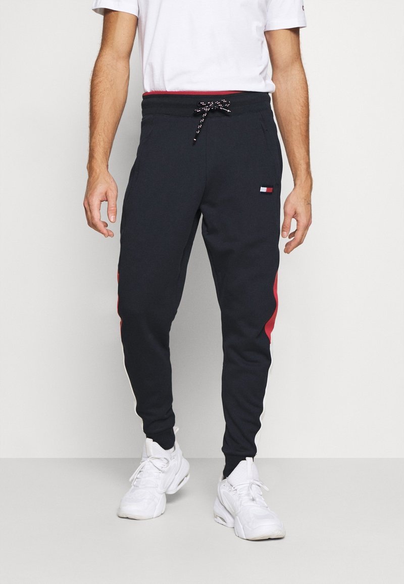 Tommy Hilfiger - CUFFED BLOCKED PANT - Tracksuit bottoms - blue