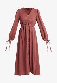 Vero Moda - VMEDDA DRESS - Skjortekjole - mahogany - 4