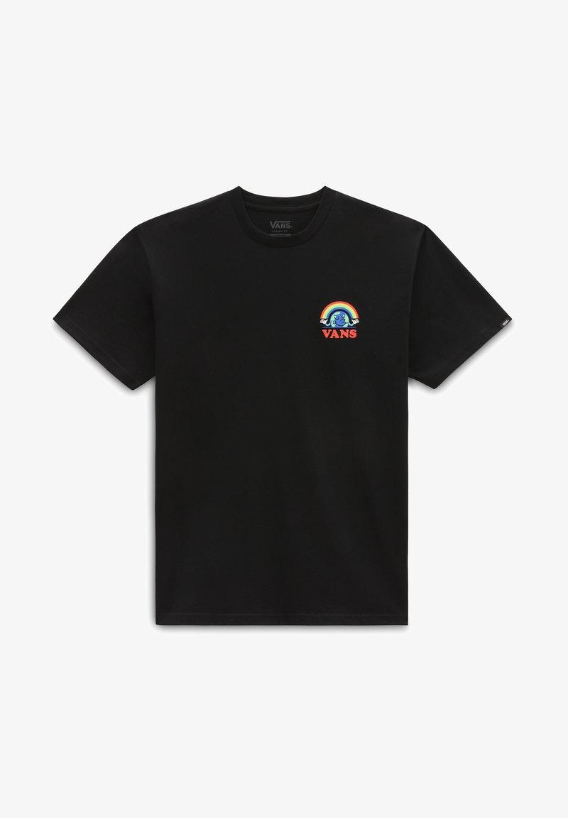 Vans - MN GOOD VIBES SS - T-shirt med print - black