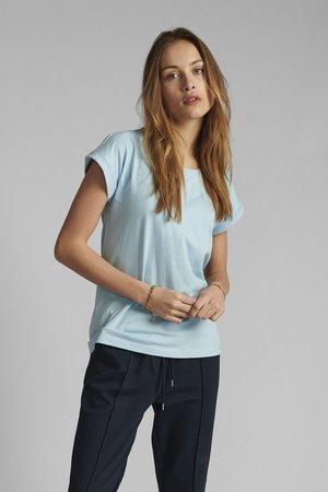 NUBEVERLY  - Basic T-shirt - airy blue