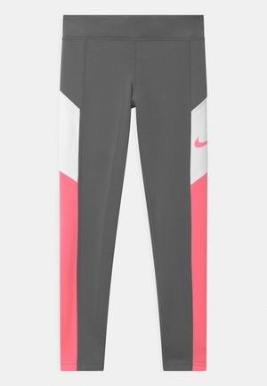 TROPHY - Leggings - smoke grey/sunset pulse/white