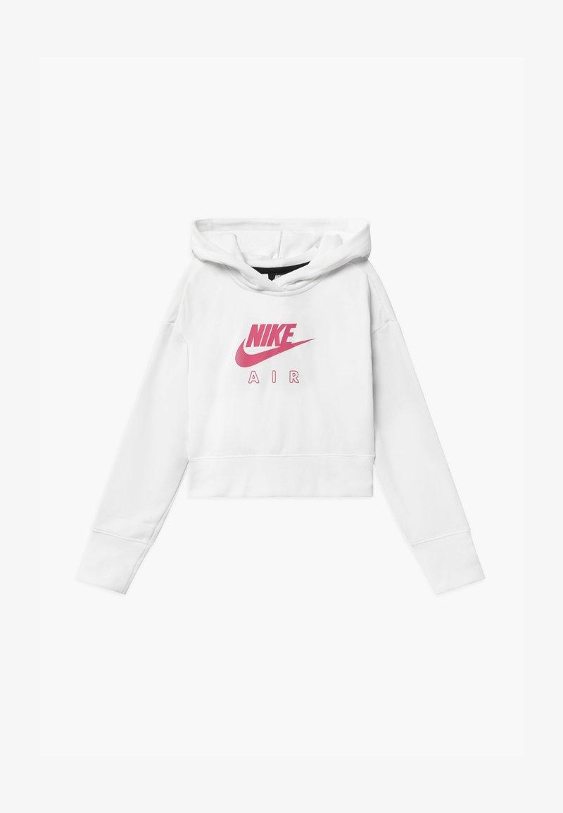 Nike Sportswear - AIR CROP HOODIE - Hoodie - white/pinksicle