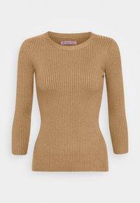 Anna Field - BASIC- rib 3/4 sleeve jumper - Svetr - camel - 0