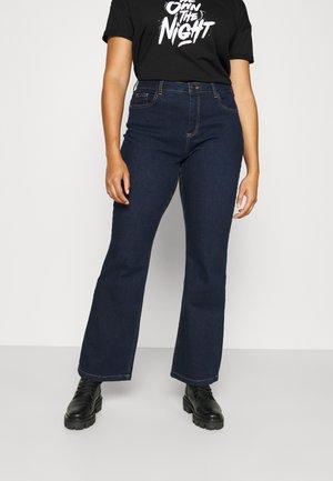 JALBA ELLEN  - Bootcut jeans - dark blue denim