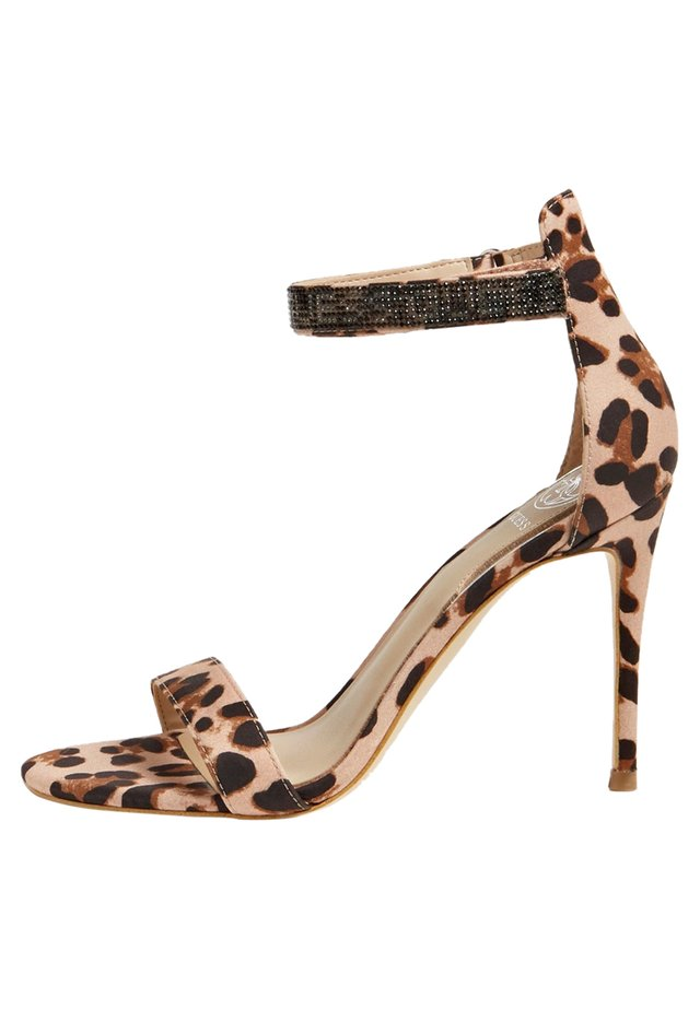 SANDALETTE KAHLUN ANIMAL-PRINT - Sandalen met hoge hak - animalier