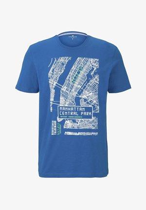 T-SHIRT T-SHIRT MIT NYC-PRINT - T-shirt imprimé - teal blue
