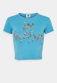 M Missoni - MANICA CORTA - Print T-shirt - mottled teal - 0