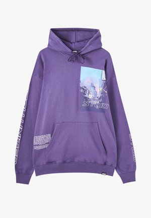 Kapuzenpullover - mottled purple