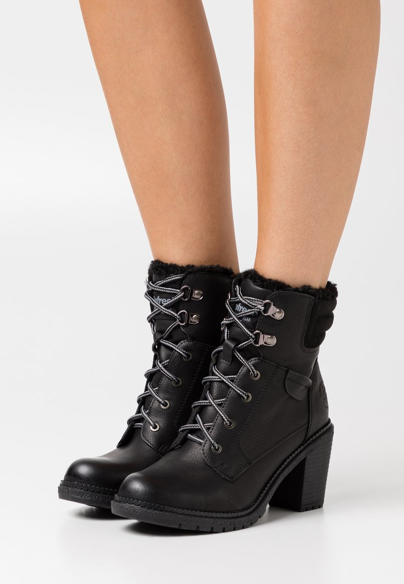 Refresh - Lace-up ankle boots - black