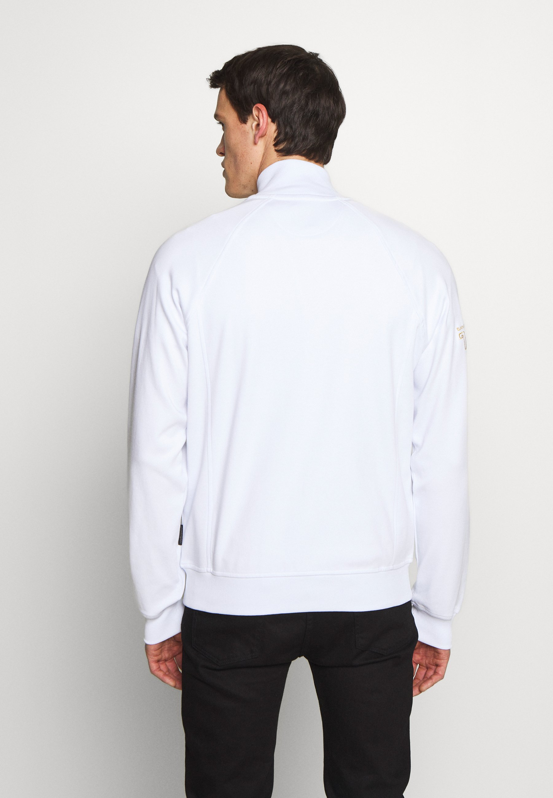 Lamborghini SHIELD LOGO TRACK JACKET - veste en sweat zippée - white