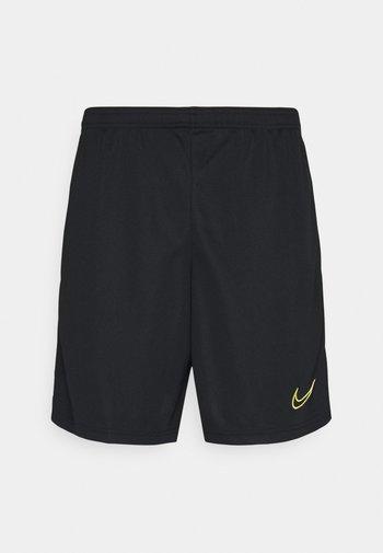 ACADEMY SHORT - Pantalón corto de deporte - black/white/saturn gold