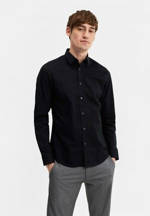 SLIM FIT STRETCH - Koszula - black