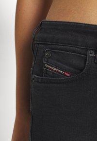 Diesel - D-JEVEL - Jeans Skinny Fit - washed black - 4