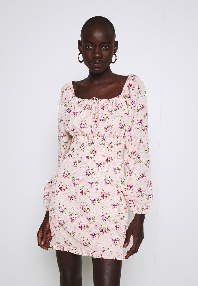 WAIST MINI DRESS - Day dress - pink