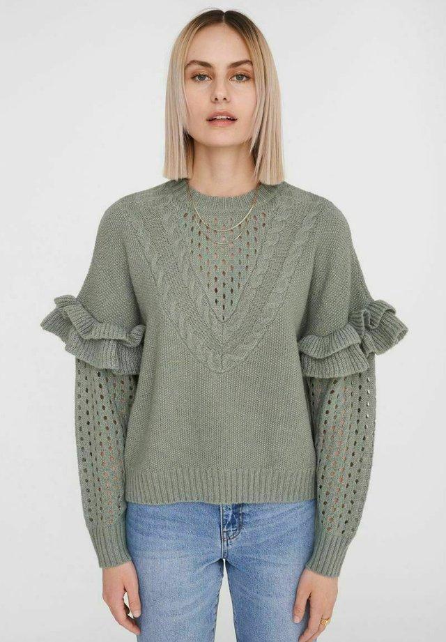 RÜSCHENDETAIL - Jersey de punto - slate gray