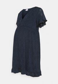 Mamalicious Curve - MLDENISE TESS SHORT DRESS - Jerseyjurk - navy blazer - 0