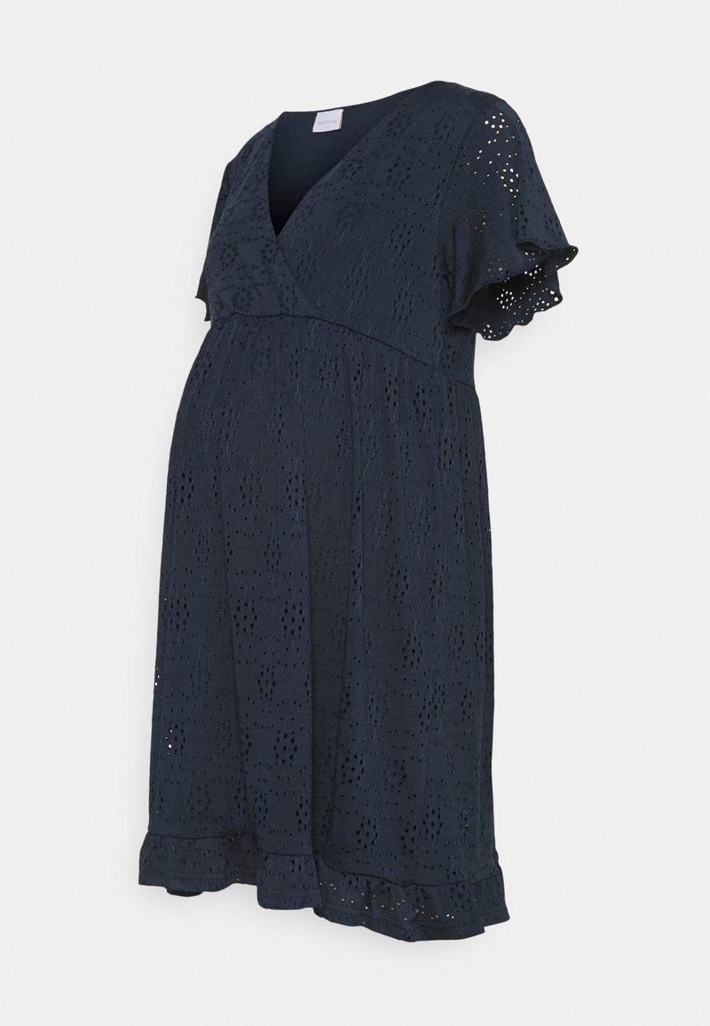 Mamalicious Curve - MLDENISE TESS SHORT DRESS - Jerseyjurk - navy blazer