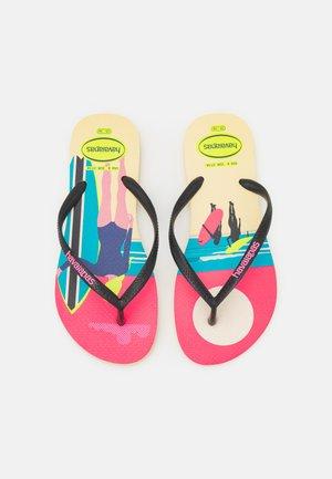 SLIM STYLE MIX - Pool shoes - lemon yellow