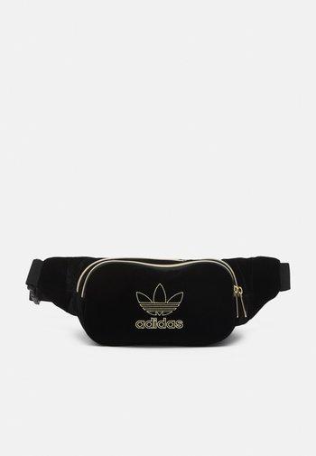 WAISTBAG UNISEX - Bum bag - black/gold-coloured