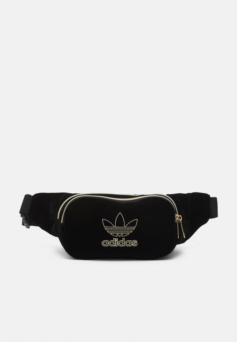 adidas Originals - WAISTBAG UNISEX - Saszetka nerka - black/gold-coloured