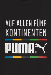 Puma - GRAPHIC TEE - Print T-shirt - black - 2