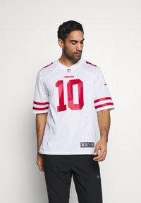 Nike Performance - NFL SAN FRANCISCO JIMMY GAROPPOLONIKE GAME ROAD - Club wear - white - 0