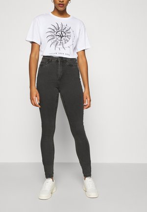 NMCALLIE - Skinny džíny - dark grey denim