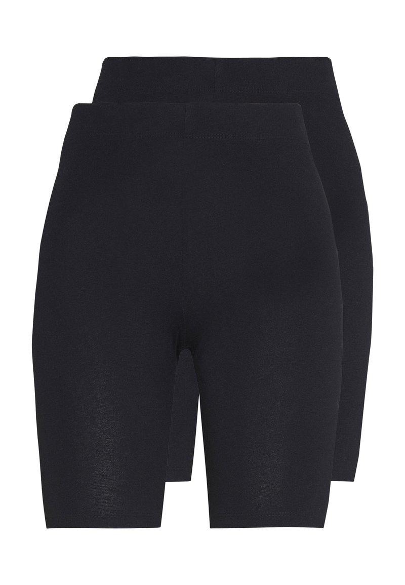Gina Tricot - BASIC BIKER 2PACK - Shorts - black