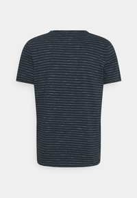 Selected Homme - SLHMORGAN STRIPE O NECK TEE - Print T-shirt - dark sapphire/egret - 1