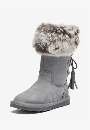 GREY TALL FAUX FUR PULL-ON BOOTS (OLDER) - Zimní obuv - grey