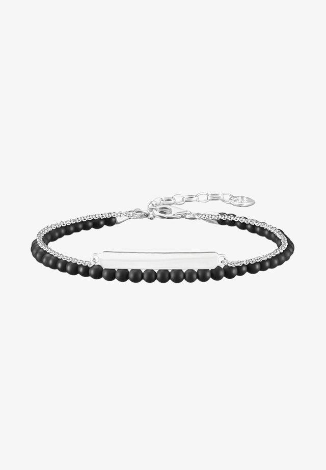 Bracciale - silver-coloured/black