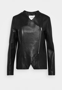 NAPPA GLASS JACKET - Kožená bunda - black