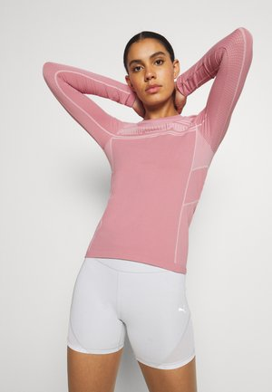 EVOSTRIPE EVOKNIT TEE - Long sleeved top - foxglove